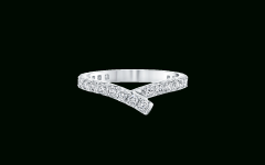 Ribbon Diamond Wedding Bands
