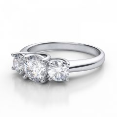 3 Stone Diamond Anniversary Rings
