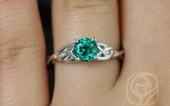 Celtic Emerald Engagement Rings