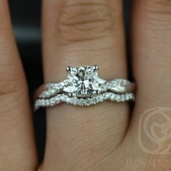 Wedding Bands For Twisted Engagement Rings