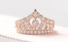 Princess Tiara Crown Rings