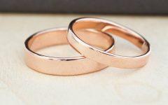 Rose Gold Wedding Bands Sets