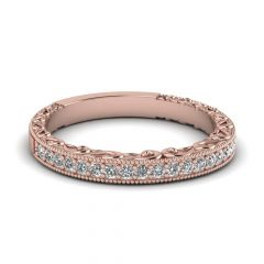 Cheap Rose Gold Wedding Bands