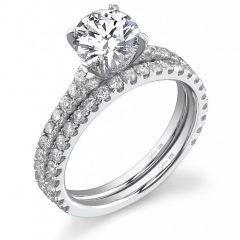 Round Solitaire Engagement Ring Settings