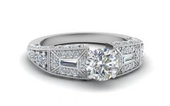Vintage Style Diamond Wedding Rings
