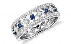 White Sapphire Anniversary Rings