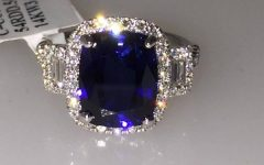 Sapphire And Diamond Anniversary Rings