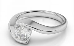 Tension Set Engagement Rings with Wedding Bands