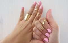 Chevron Midi Rings