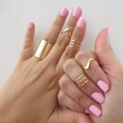 Chevron Knuckle Rings Sets