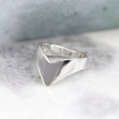 Sterling Silver Chevron Rings