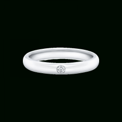 Round Brilliant Single Diamond Wedding Bands