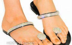 Sandals Rhinestone Toe Rings