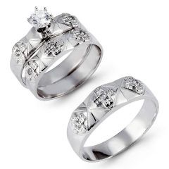 Cross Wedding Rings