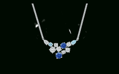 Sapphire, Aquamarine and Diamond Necklaces