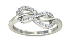 Infinity Diamond Wedding Rings