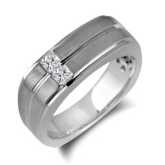Square Mens Wedding Rings