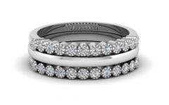 Diamond and Milgrain Anniversary Bands in White Gold