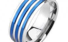 Blue Stripes Rings