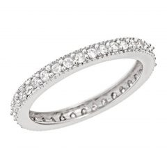 Sparkling Pavé Band Rings