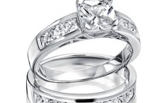 Sterling Silver Diamond Wedding Bands