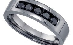 Enhanced Black and White Diamond Anniversary Bands in Sterling Silver