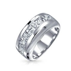 Male Silver Wedding Bands