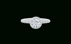 Harry Winston Micropave Engagement Rings
