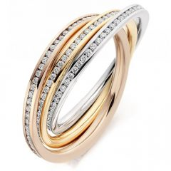 Diamond Russian Wedding Rings