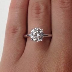 2 Carat Solitaire Engagement Rings