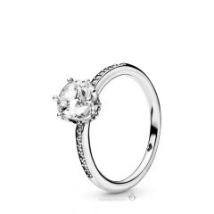 Clear Sparkling Crown Rings