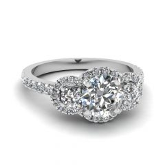 Trinity Diamond Engagement Rings