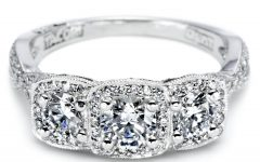 Three Stone Diamond Anniversary Rings