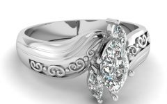 Marquise and Princess-cut Composite Diamond Six Stone Anniversary Bands