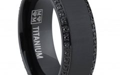 Men's Black Wedding Bands With Diamonds