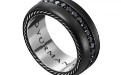 Male Black Diamond Wedding Bands