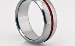 Red String of Fate Wedding Rings
