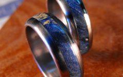 Men's Wedding Bands Wood Inlay