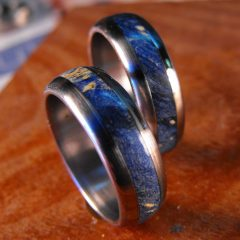 Men's Wedding Bands Wood Inlay
