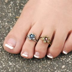 Flower Toe Rings
