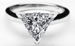 Triangle Cut Diamond Engagement Rings