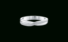 Partial Micropavé Diamond Wedding Bands