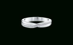 Partial Micropavé Diamond Wedding Bands