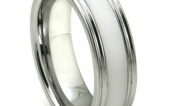 White Ceramic Wedding Bands