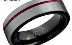 Men's Black And Red Wedding Bands