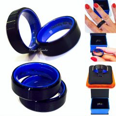 Blue Wedding Bands For Men