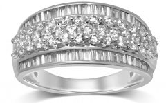 Diamond Linear Anniversary Bands in White Gold