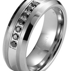 Men's Titanium Wedding Bands With Diamonds
