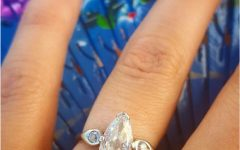 Classic Teardrop Halo Rings
