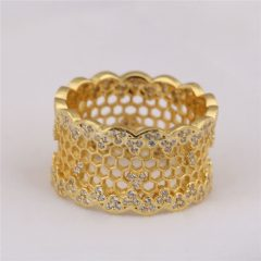 Honeycomb Lace Rings
